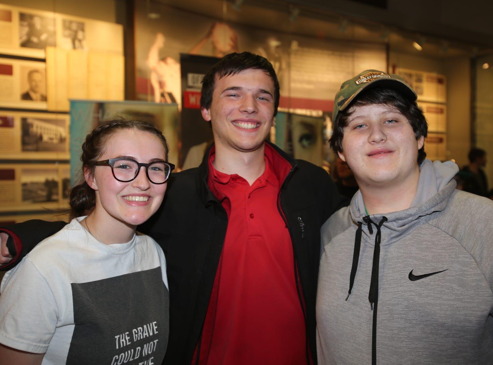 Samatha Smith, John Phelps, and Justin Christensen