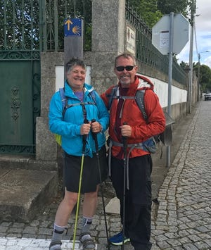 Morgan and I heading out on the path together in Porto, Portugal.