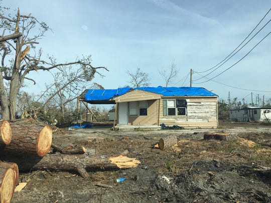 Much of the damage in the Panhandle after Hurricane Michael remains unfixed.