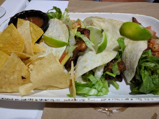 Everything is lovingly prepared at The Nomad Café and the salmon tacos are as nutritious as they are delicious.
