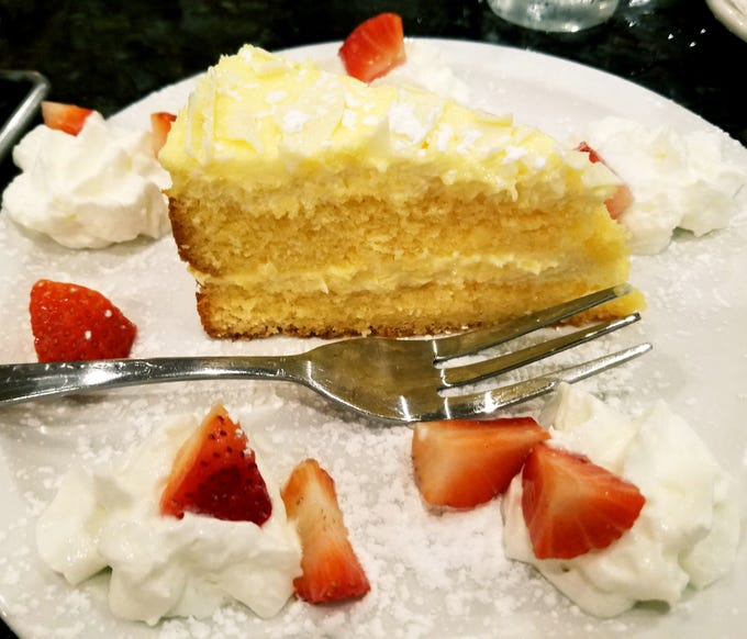 The Limoncello cake was rich, fragrant, and refreshing.