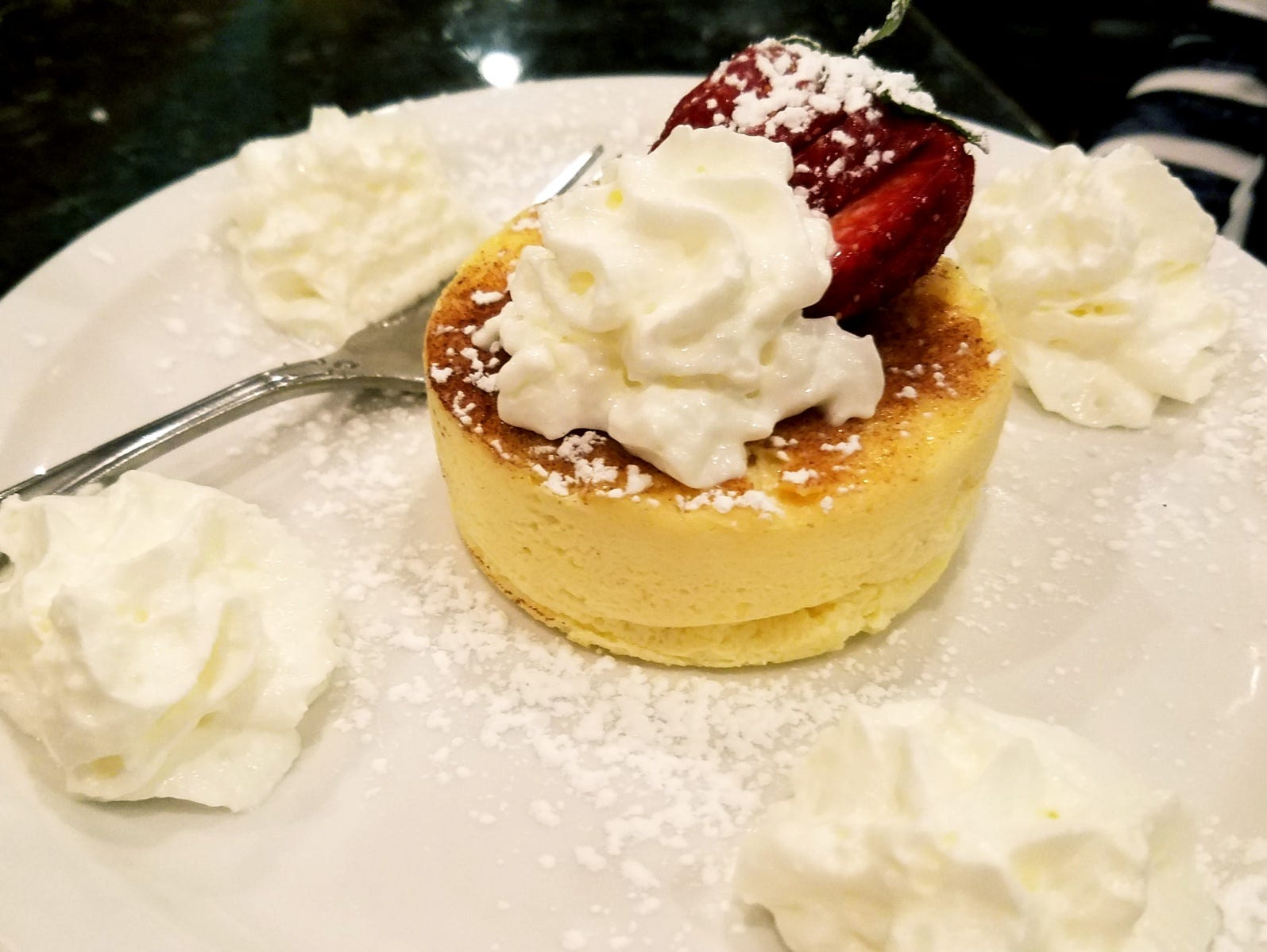 The ricotta cheesecake was made in house and was dense and rich but not overly sweet.
