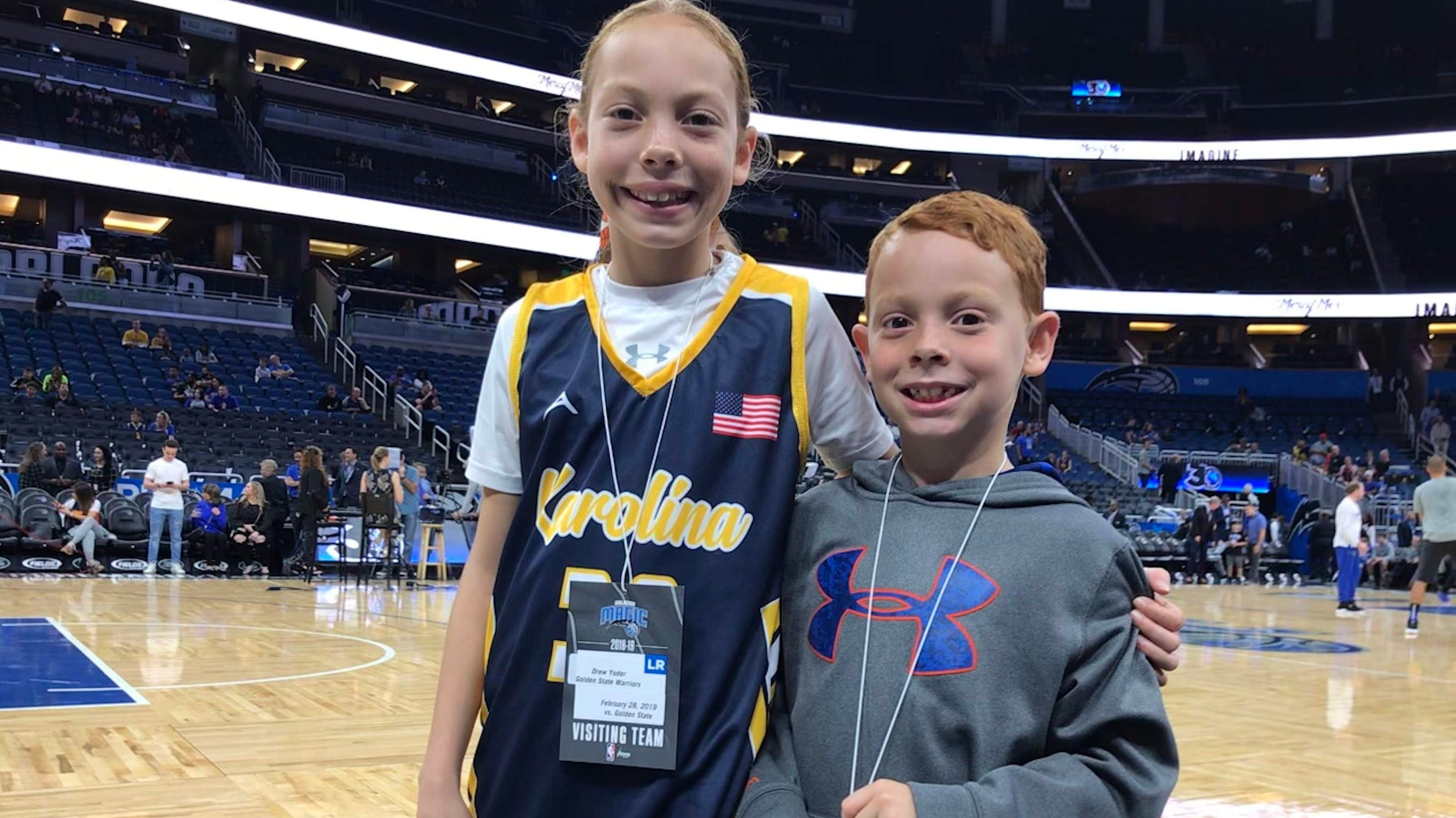 85af864d799e Stuart girl surprised with courtside seats to see Stephen Curry