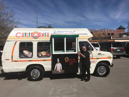 Thomas Cavazos, a chili expert, will give samples of his dish at the grand opening of his food truck, Chilifornia, March 3.