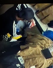 Surveillance footage of a suspect arrested Thursday after a Simi Valley police investigation of an alleged series of organized retail thefts.