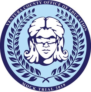 This year's Ventura County Mock Trial logo artwork was created by Alexandra Clark from La Reina High School in Thousand Oaks.