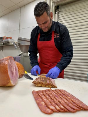 Danny Mendes of Tulare Meat Locker & Sausage Co. took home best in show at Cured Meats Competition in Northern California.