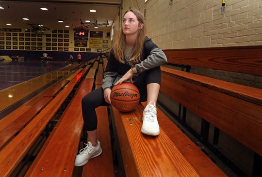Three-sport star Nieve Donegan who is The Journal News/lohud Rockland Scholar-Athlete of the Week was photographed at Clarkstown North High School in New City March 1, 2019.