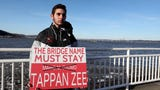 David Dunlop created a sign in an effort to have the Gov. Mario M. Cuomo Bridge renamed the Tappan Zee Bridge.