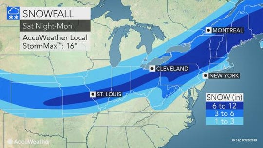 Snow is expected to hit the Lower Hudson Valley throughout the weekend.
