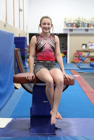 Tri-Valley's Olivia Combs is heading to the state gymnastics finals this weekend to compete in the vault.
