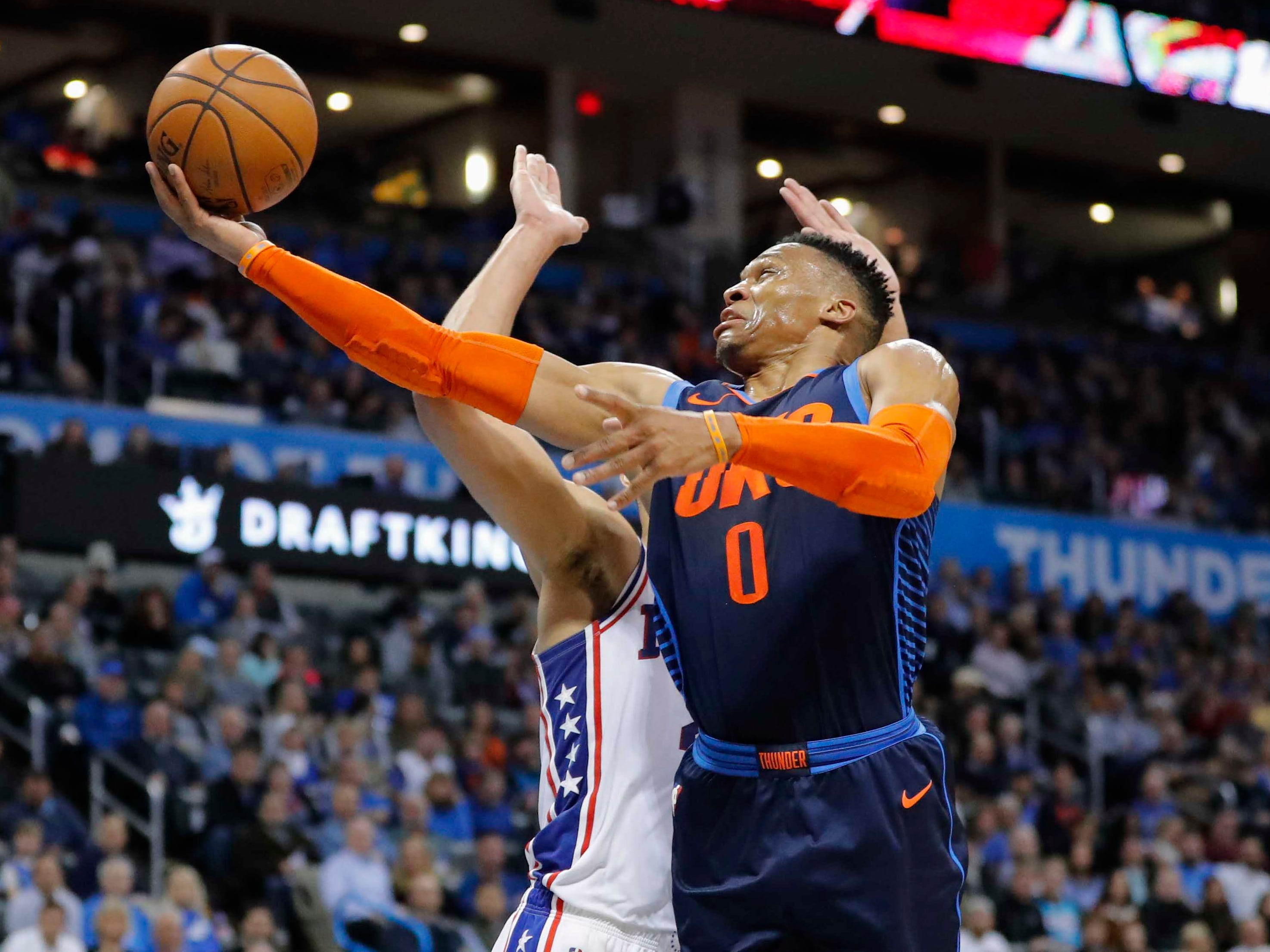 90. Russell Westbrook, Thunder (Feb. 28): 23 points, 11 assists, 11 rebounds in 108-104 loss to 76ers (25th of season).