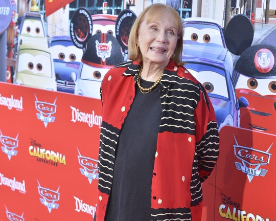 Actress Katherine Helmond poses during a red carpet event to celebrate the opening of Cars Land at Disney California Adventure park on June 13, 2012 in Anaheim, Calif.