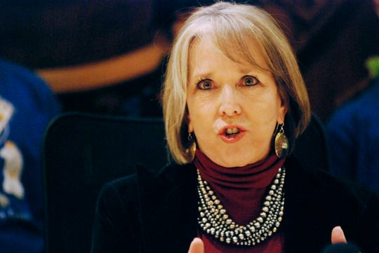 """New Mexico Governor Michelle Lujan Grisham — shown in this Tuesday, Jan. 29, 2019 file photo —criticized a wave of""""Second Amendment Sanctuary"""" resolutions passed bycounties across the state."""