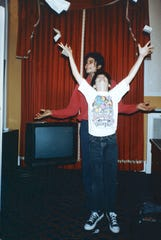 Michael Jackson and a young James Safechuck, who alleges that the singer molested him from age 10 to 14.