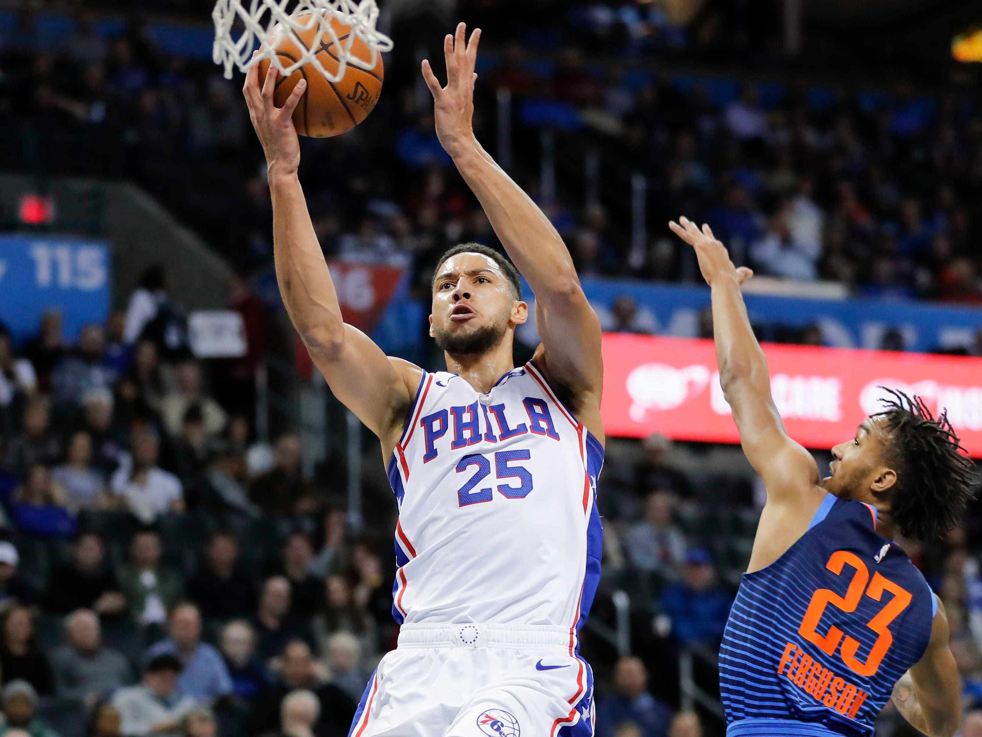 91. Ben Simmons, 76ers (Feb. 28): 11 points, 13 rebounds, 11 assist in 108-104 win over Thunder (ninth of season).