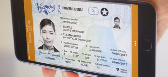 Wyoming is one of the pilot states testing digital driver's licenses on a smartphone.