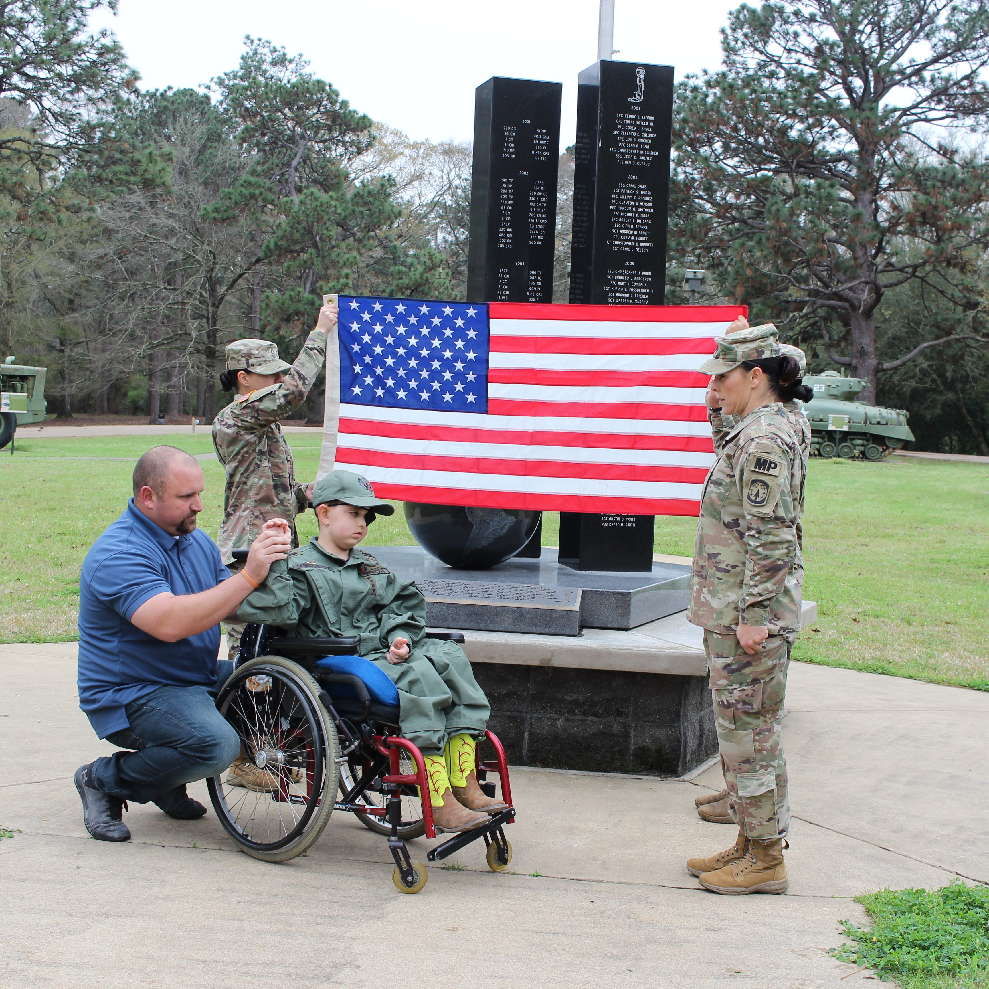 Terminally ill child inducted as honorary soldier at Fort Polk