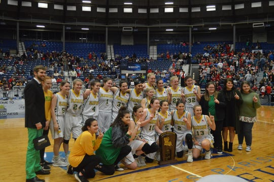 The Plainview Lady Hornets defended their Class C title Friday after a 55-32 victory over Reeves.