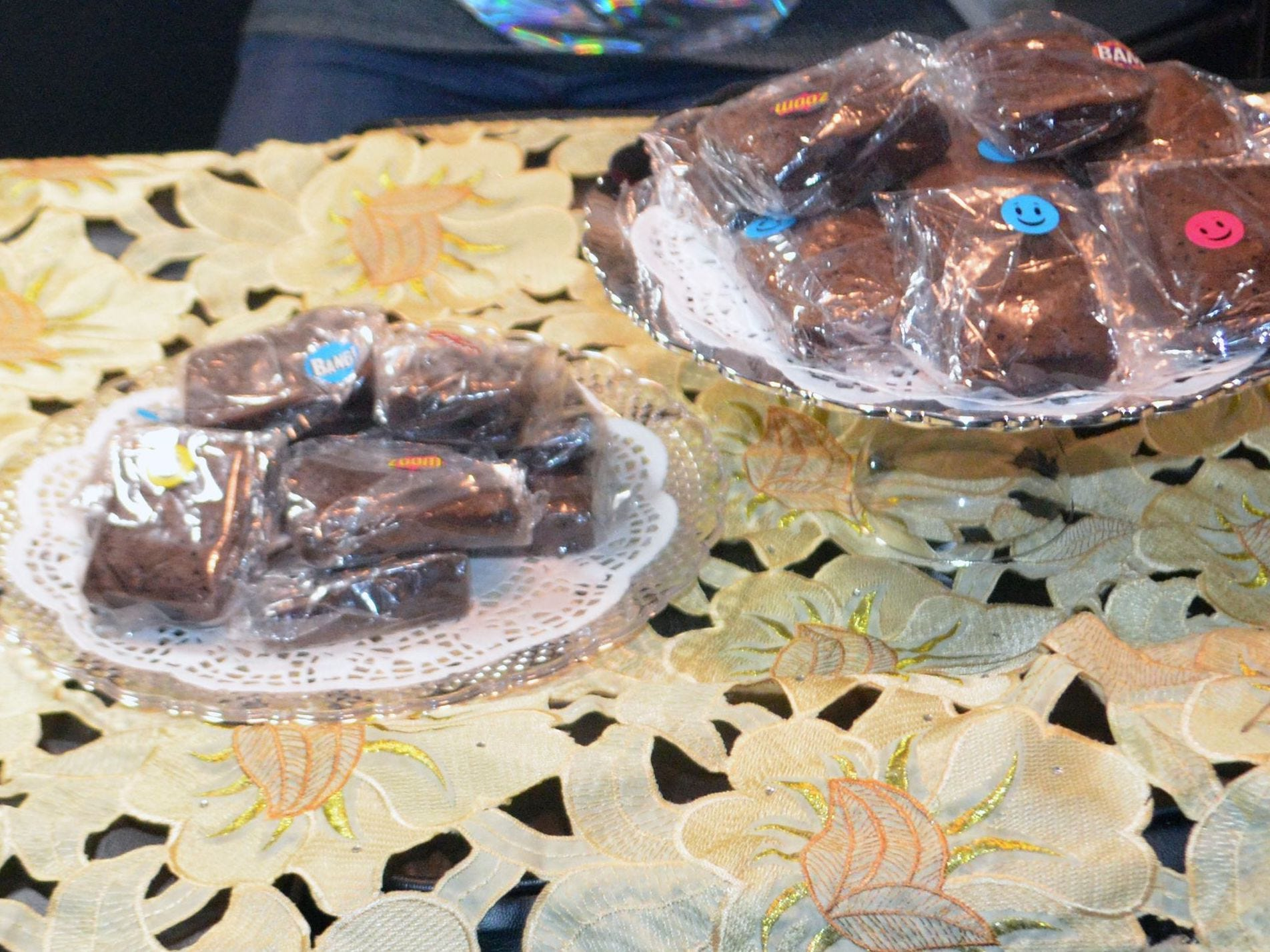 "Cannabis-infused brownies are sold at a black market ""pop-up"" event where marijuana was illegally sold."