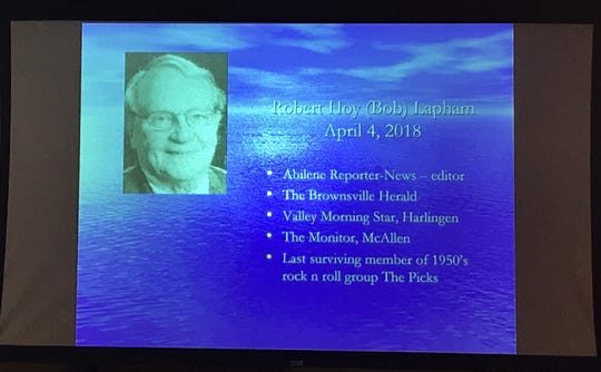 Late Abilene Reporter-News staffer Bob Lapham was remembered with other journalists who died the past year at the Texas Associated Press Managing Editors convention Saturday in Austin.