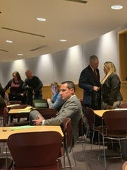 Community members attend the public voice on recreational marijuana, including Broome County Executive Jason Garnar and District Attorney candidate Paul Battisti.