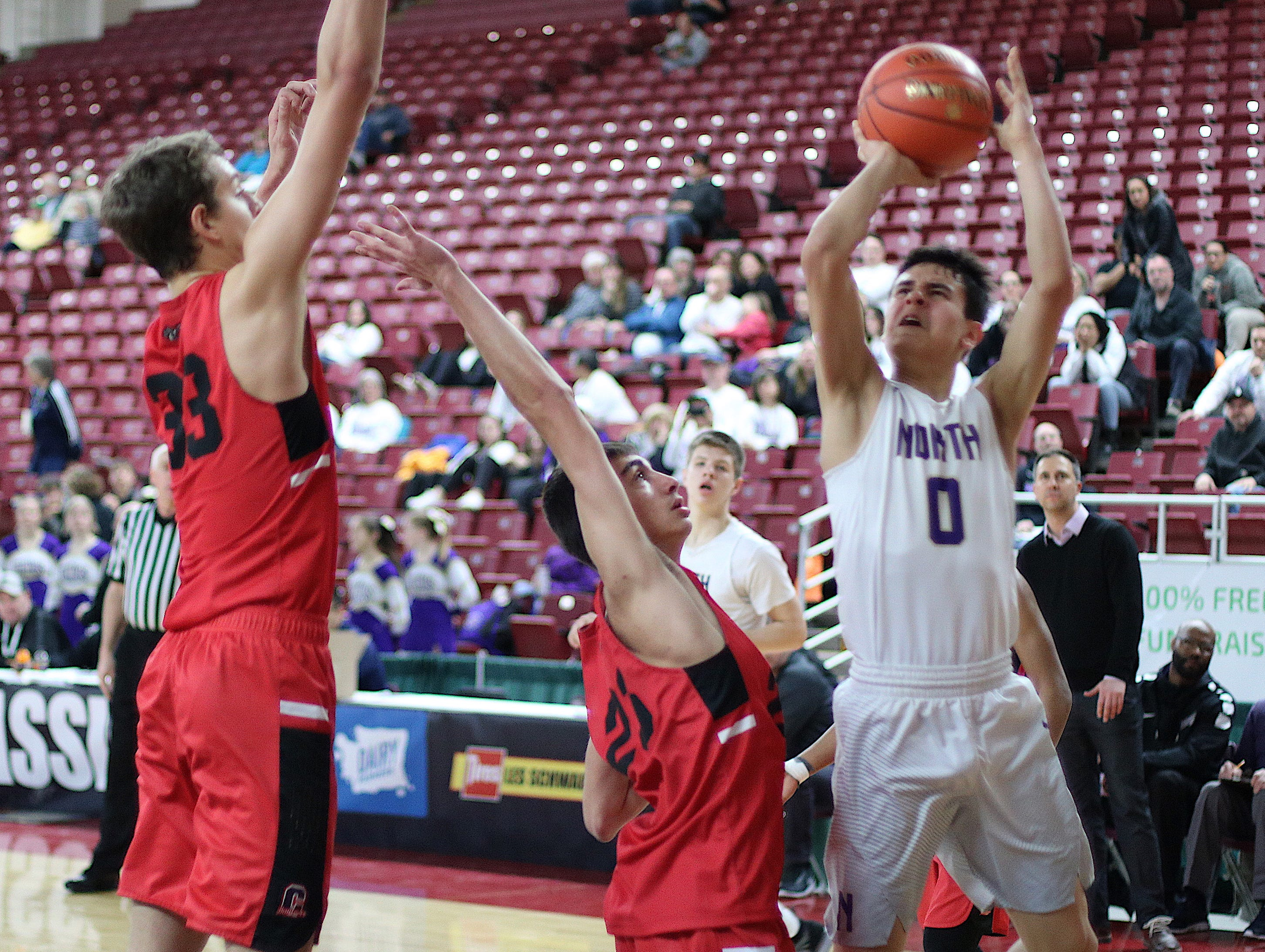 North Kitsap's boys basketball team finished sixth at the Class 2A state tournament Saturday after falling 50-32 against Clarkston.