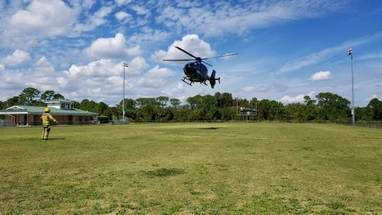 One personw as transported by air to a local hospital after an ATV crash at Mitchell Ellington Park in Merritt Island.