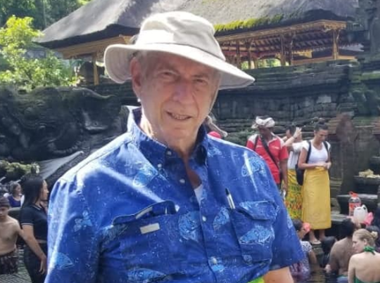 Arnold Bucciarelli of Cherry Hill is seen during a trip to Indonesia.
