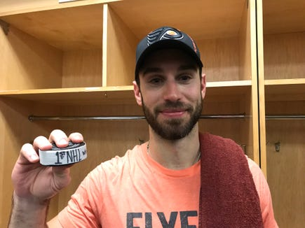 Cam Talbot made 30 saves Friday night for his first win as a Flyer.