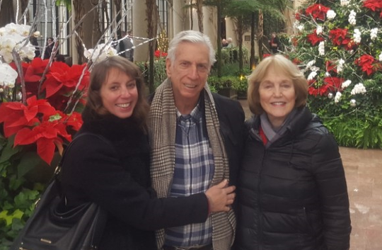 Arnold Bucciarelli of Cherry Hill is seen with his wife, Carol, and daughter, Donna.