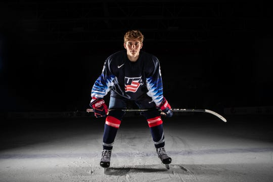 Jack Hughes is a member of the U.S. National Under-18 Team, based in Plymouth.