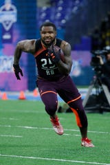 Ohio State running back Mike Weber was one of the fastest running backs in the 40-yard dash at the NFL combine on Friday, March 1.