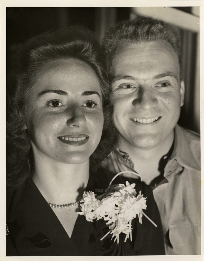 Lulu and Ernie Harwell in an undated photograph. Lulu Harwell died Friday, March 1, at the age of 99.