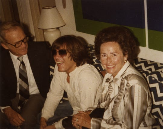 Ernie and Lulu Harwell with Jose Feliciano.