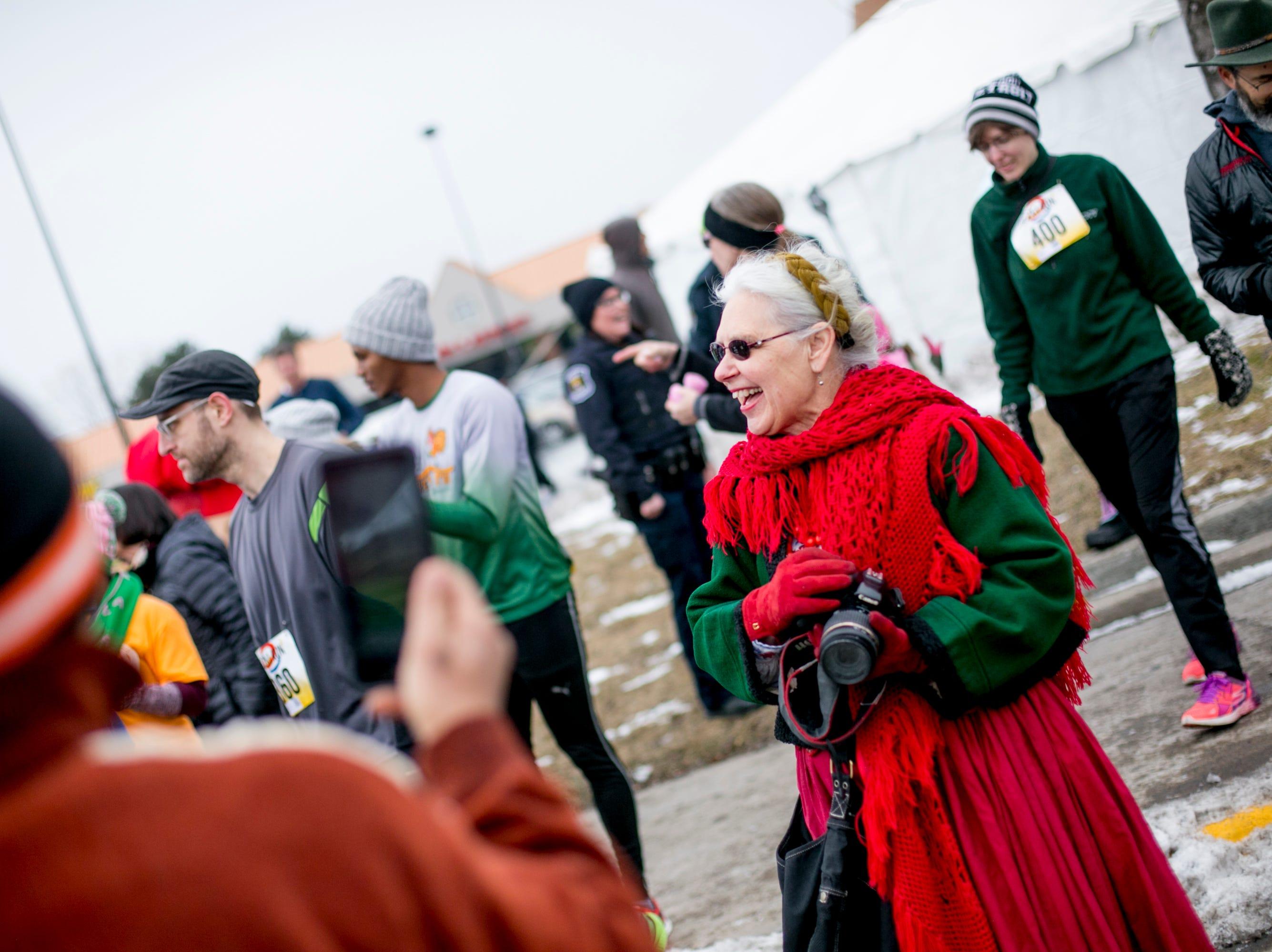 Hamtramck Mayor Karen Majewski attends the 7th annual Tour-de-Troit Paczki Run.