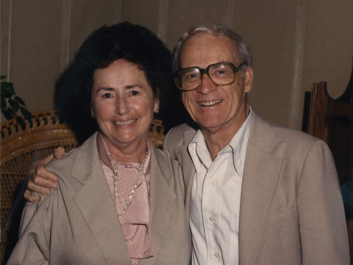 Lulu and Ernie Harwell in an undated photograph.