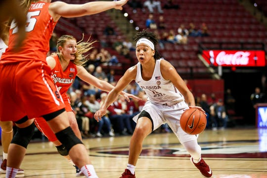 Florida State junior guard Nausia Woolfolk had a team-high 29 points against Syracuse on Thursday night at the Tucker Center.