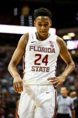 Freshman Devin Vassell (24) led the Noles with 13 points, helping FSU get the 68-61 win over Notre Dame on Monday, February 25th.