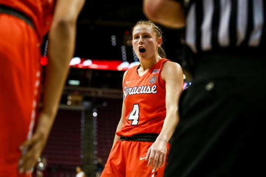 Syracuse junior guard Tiana Mangakahia dropped 44 points against Florida State on Thursday night at the Tucker Center.