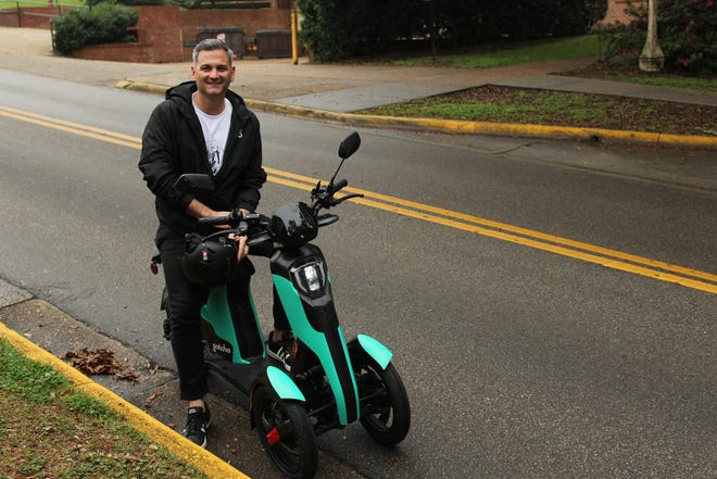 FSU alumnus Sean Flood started his first mobility product, a low speed electric rideshare vehicle, in Tallahassee.