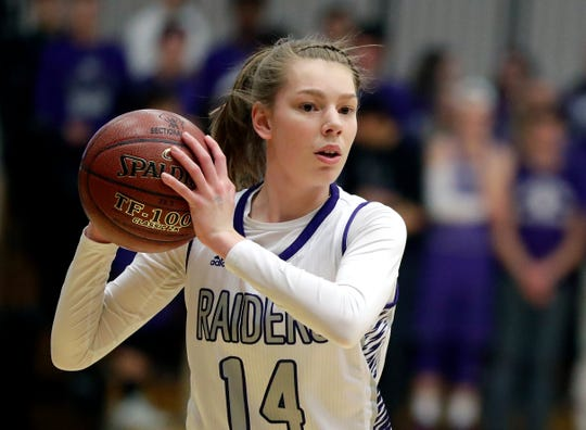 Kiel's Savannah Walsdorf is the Lakeshore Elite girls basketball player of the year.