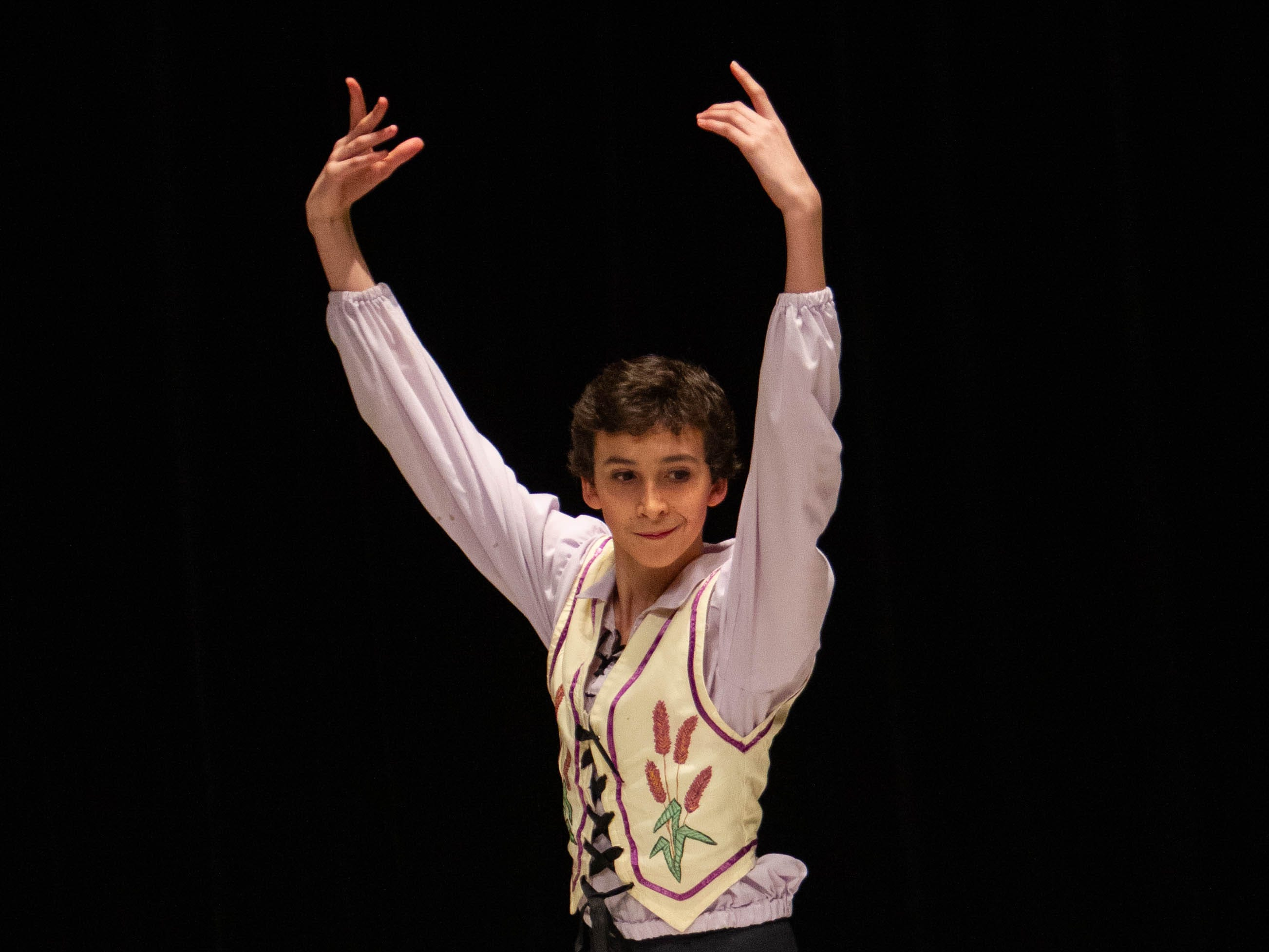 Robbie Read competes at the inaugural year of Grand Jeté dance competition in the Junior Ballet division, at the Governor's School for the Arts and Humanities, on Saturday, March 2, 2019.