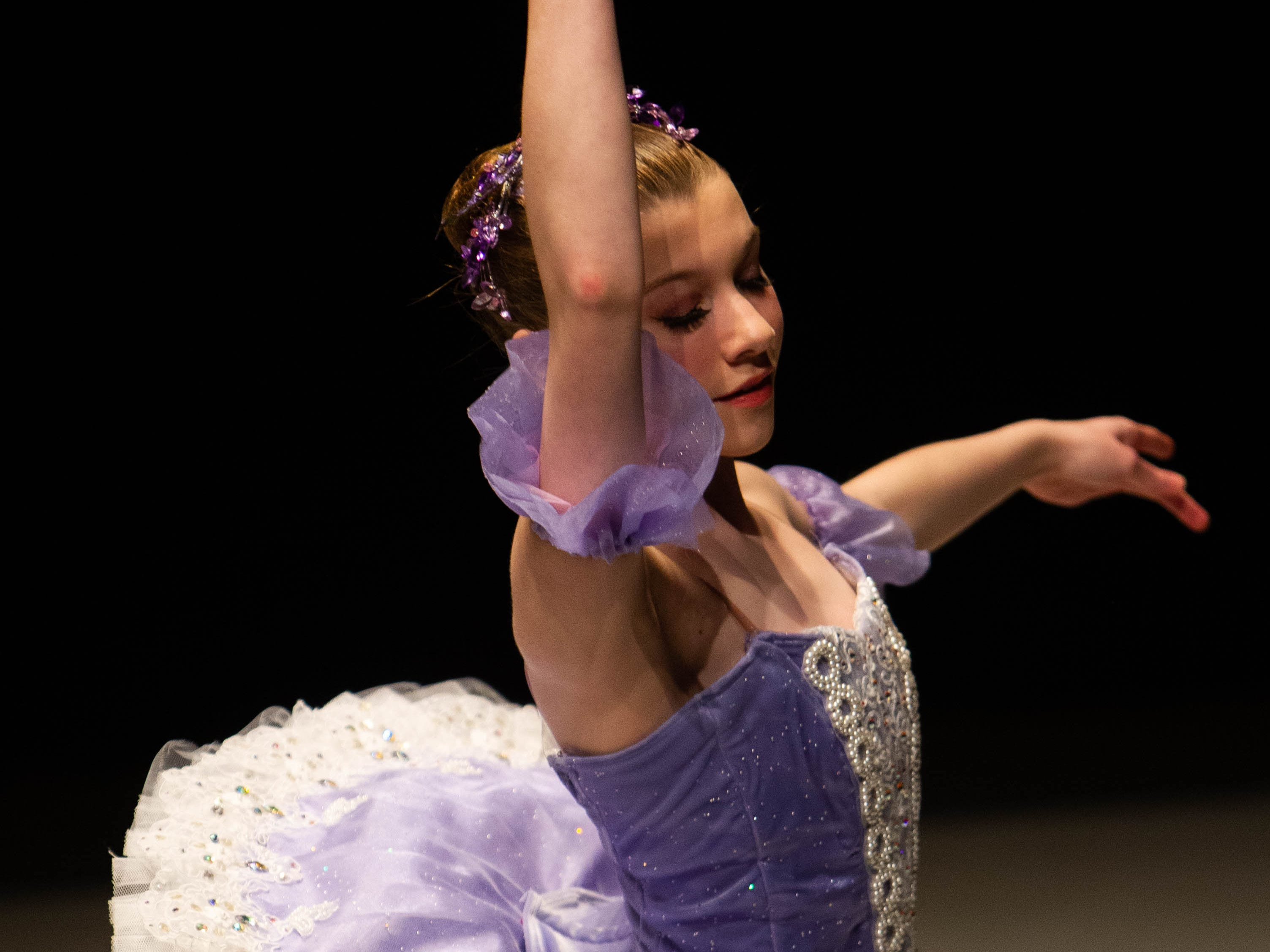Lilli Orr competes at the inaugural year of Grand Jeté dance competition in the Junior Ballet division, at the South Carolina Governor's School for the Arts and Humanities, on Saturday, March 2, 2019.