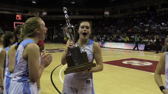The Christ Church girls basketball team won the Class AA state championship Saturday morning at Colonial Life Arena
