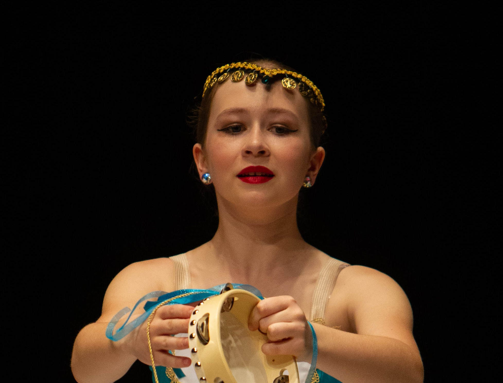Amelia Overstreet competes at the inaugural year of Grand Jeté dance competition in the Junior Ballet division, at the South Carolina Governor's School for the Arts and Humanities, on Saturday, March 2, 2019.