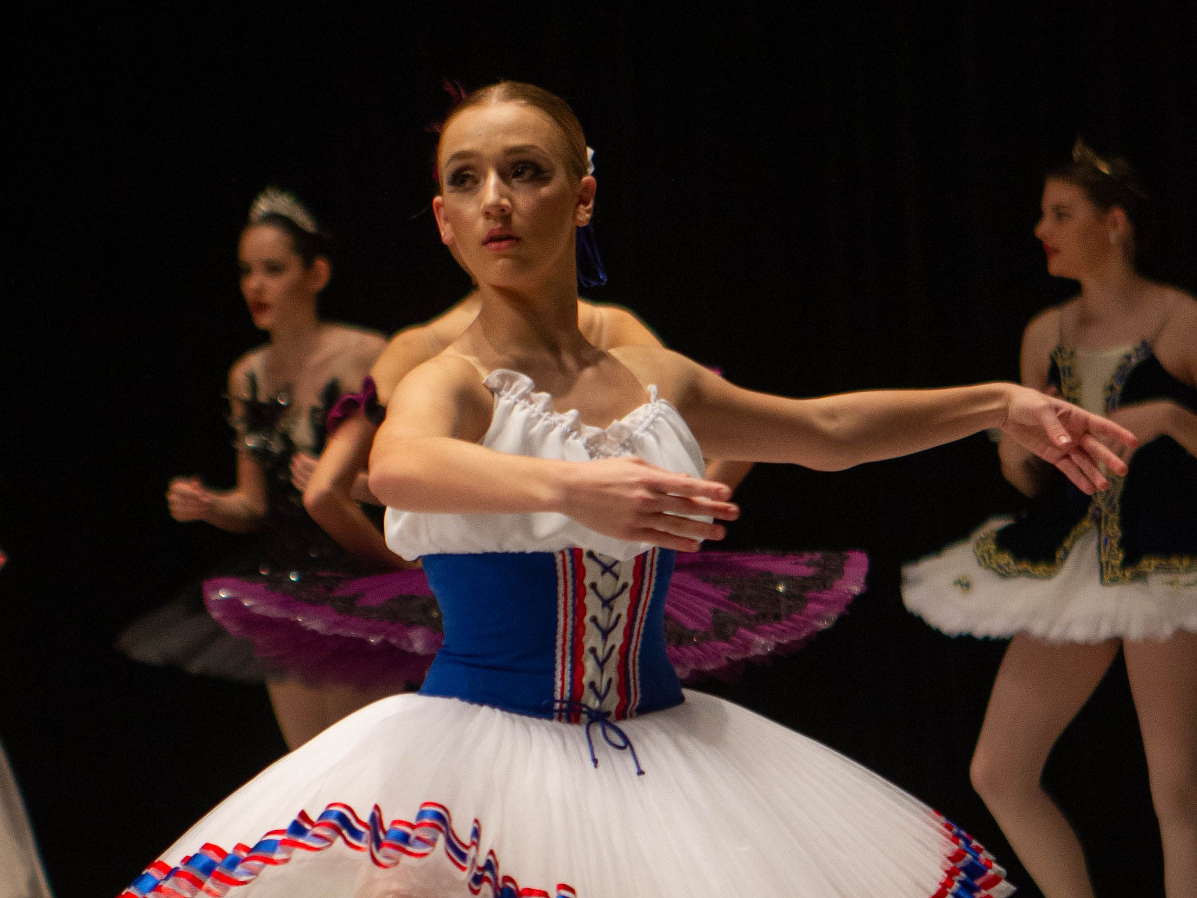 Isabelle Snelling warms up at the inaugural year of Grand Jeté dance competition in the Senior Ballet division, at the South Carolina Governor's School for the Arts and Humanities, on Saturday, March 2, 2019.