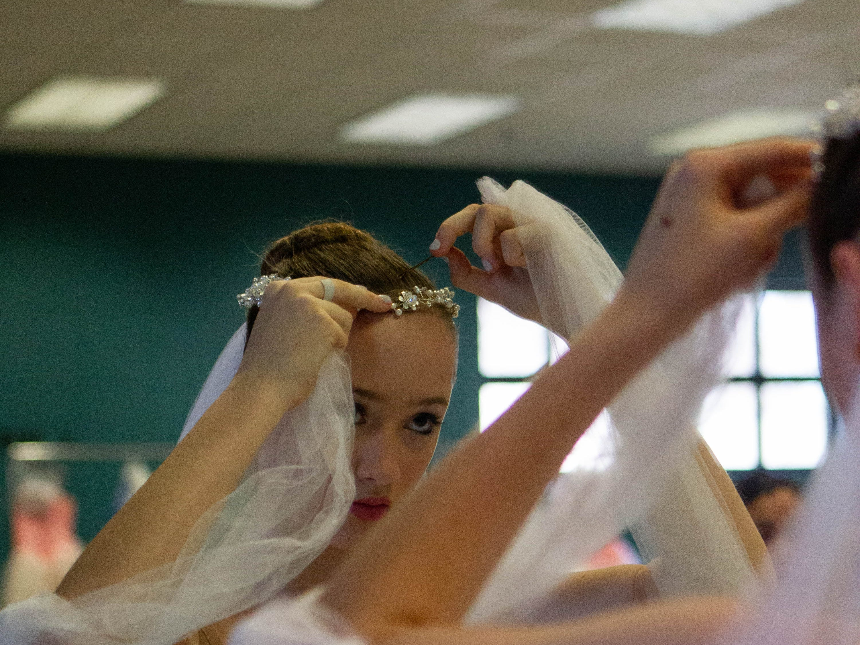 Ella Ivester of the Junior Ballet division prepares for her performance at the inaugural year of Grand Jeté dance competition, at the South Carolina Governor's School for the Arts and Humanities, Saturday, March 2, 2019.