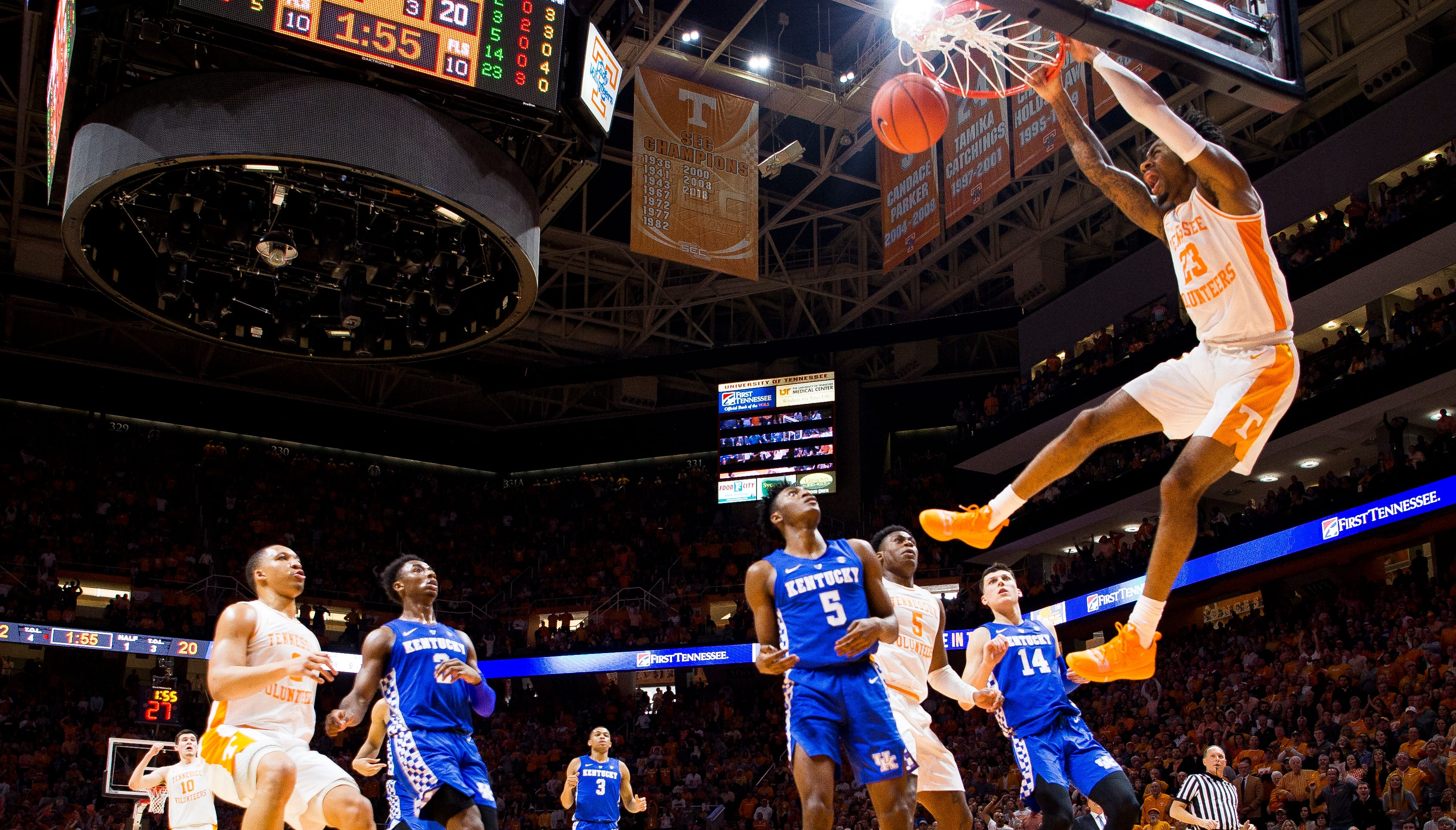 Uk Basketball Uk Vs Tenn: Tennessee Vs Kentucky Basketball: WATCH Dunks By Schofield