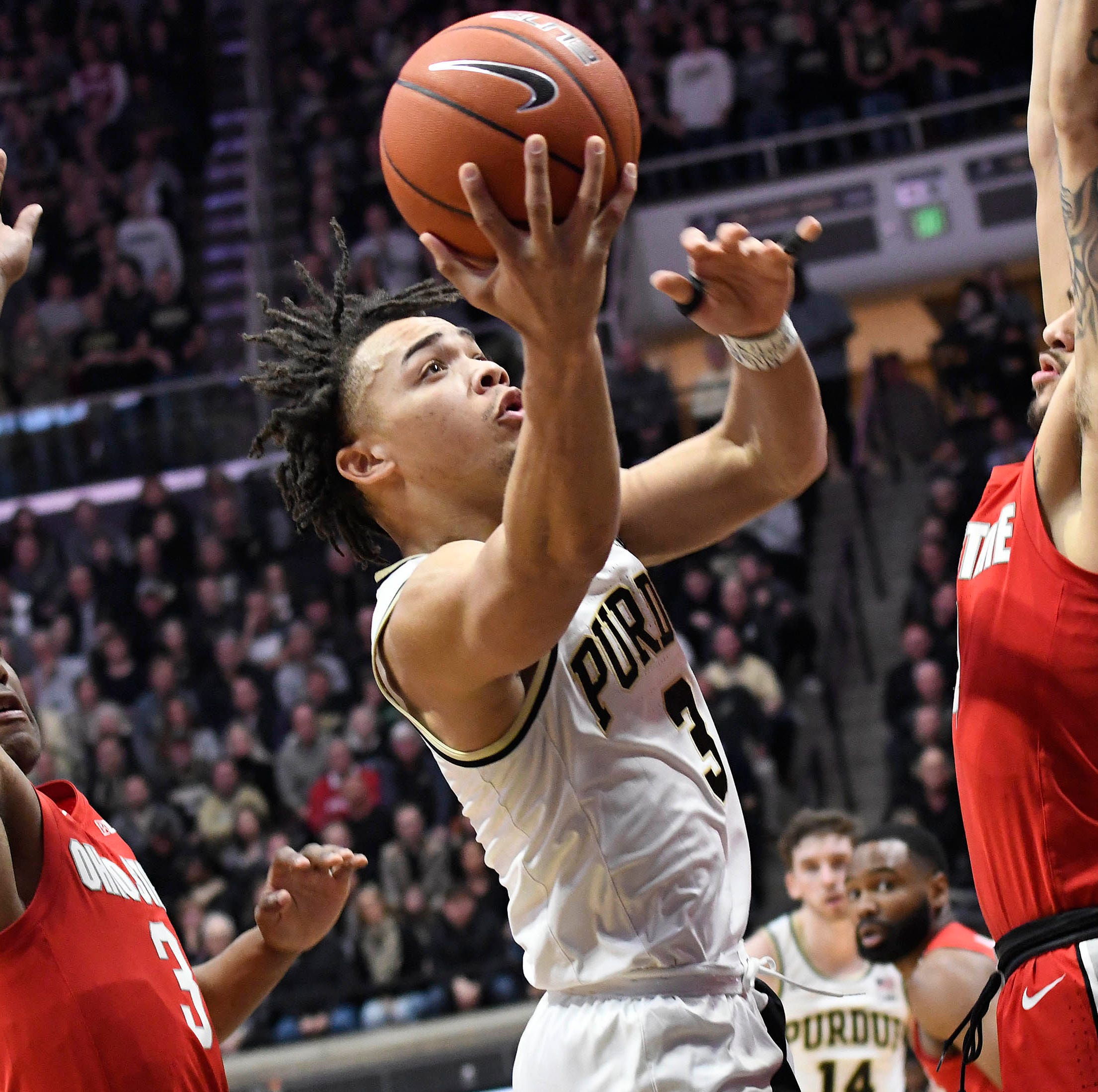 No. 14 Purdue basketball throttles Ohio State to seize sole possession of first place